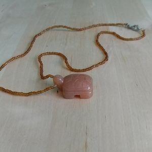 Carnellian Turtle Pendant Necklace